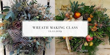 Luxury Christmas Wreath Making Class tickets