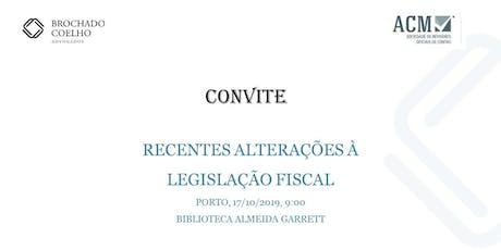 Recentes alterações à legislação fiscal bilhetes