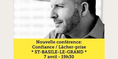 ST-BASILE - Confiance / Lâcher-prise 15$  billets