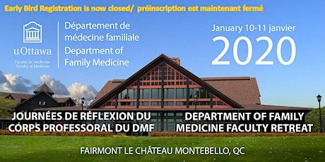 Journées de réflexion du corps professoral du DMF | 2020 | DFM Faculty Retreat tickets