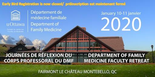 Journées de réflexion du corps professoral du DMF | 2020 | DFM Faculty Retreat