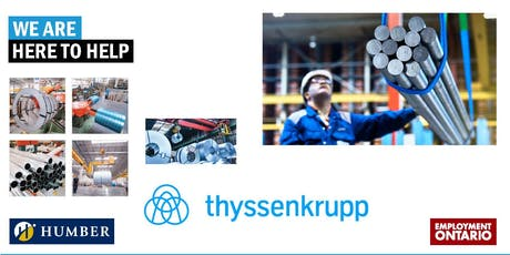 Join the ThyssenKrupp Materials Team! HIRING EVENT tickets