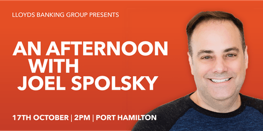 Lloyds Banking Group Presents: An Afternoon with Joel Spolsky