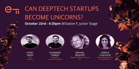 Can deeptech startups become unicorns? tickets