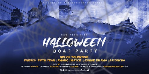 NYC Crust Nation Halloween Boat Party Yacht Cruise