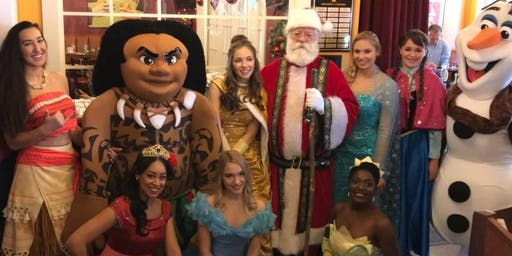 Meet Santa and Princesses with breakfast Hosted by My Princess Dream Party 12/1 @ 11:30-1pm