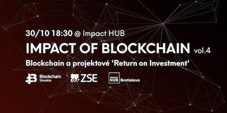 IOB vol.4: Blockchain platforma a projektové 'Return on  Investment' tickets