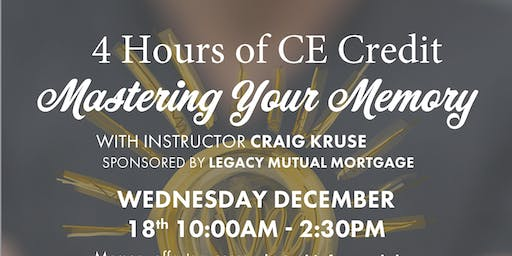 Mastering Your Memory - 4 hours of CE Credit