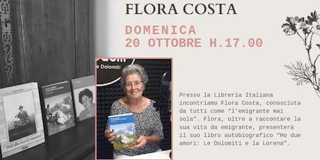 Incontro con la scrittrice Flora Costa billets