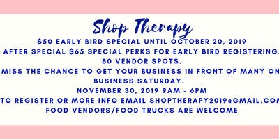 Shop Therapy CRSA's Largest Pop Up Shop (Free to the Public)