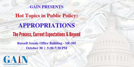 Hot Topics in Public Policy: Appropriations tickets