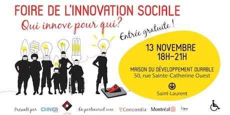 Foire de l'innovation sociale : qui innove pour qui? tickets