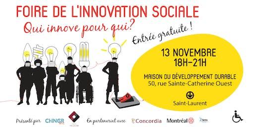 Foire de l'innovation sociale : qui innove pour qu