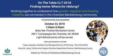 On the Table CLT: Connecting Growth, Migration and Housing Instability tickets