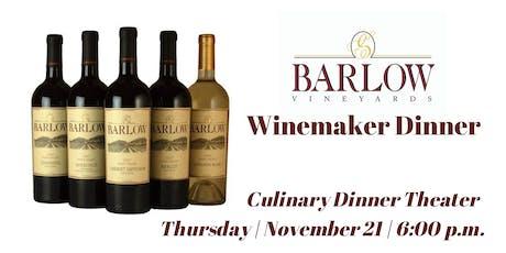 Barlow Vineyards Winemaker Dinner| Culinary Dinner Theater tickets