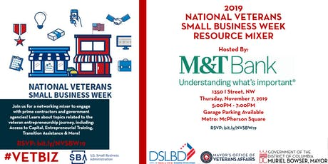 2019  National Veteran Small Business Week Resource Mixer tickets