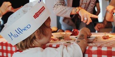 L'Osteria ❤ Kinderherzen -   Bambini Pizzabacken für den guten Zweck