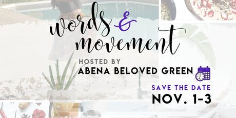 Words and Movement: Writing and Somatic Movement Retreat tickets