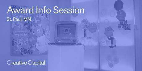 Creative Capital 2020 Award Application Info Session - St. Paul tickets