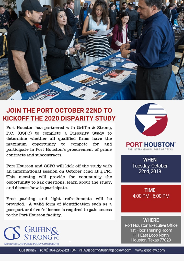 Port Houston Disparity Study  Information Meeting image