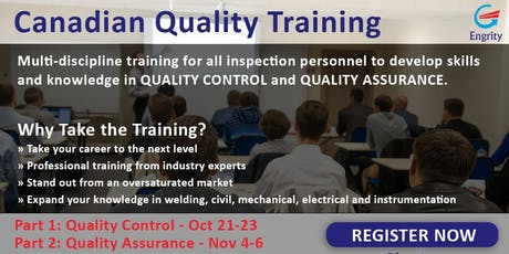 Canadian Quality Training and Certification tickets