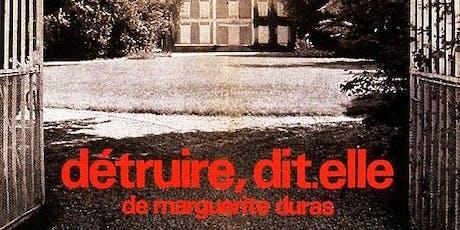 """AFDC Film Festival: """"Détruire, dit-elle"""" by Marguerite Duras tickets"""