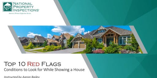 Top Ten Red Flags   Free 1-Hour CE Course For Real Estate Agents