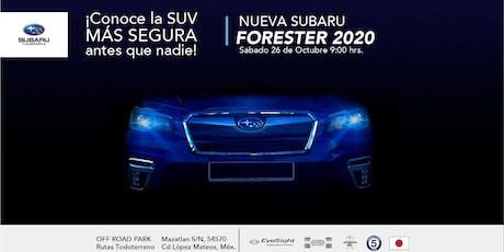 Reveal Subaru Forester 2020 en Off Road Park entradas