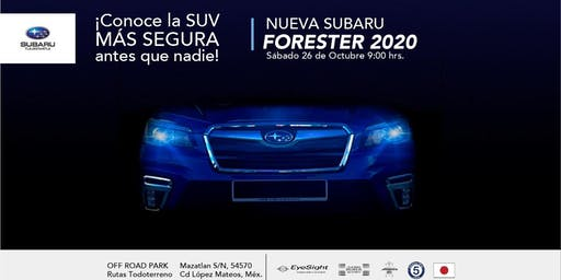 Reveal Subaru Forester 2020 en Off Road Park