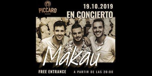 Concierto Makaú (Flamenco-Fusión) SALA PICCARO 19 Octubre MADRID