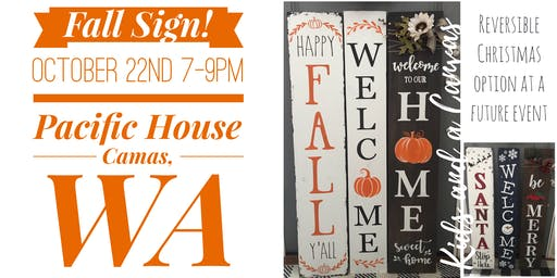 Fall Porch Sign Paint and Sip! (Oct. 22nd)