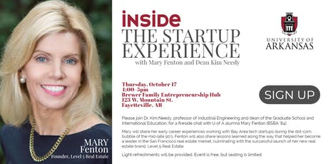 Inside the Startup Experience with Mary Fenton and Kim Needy tickets