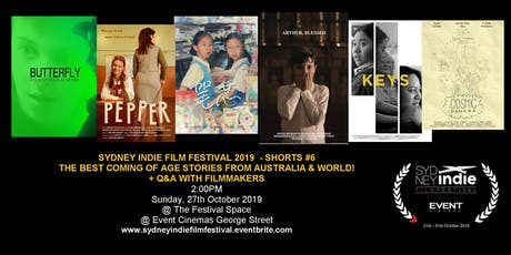 Sydney Indie Film Festival 2019 – Coming of Age Short Films tickets