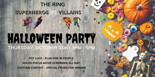 Superheros Vs Villains Halloween Party