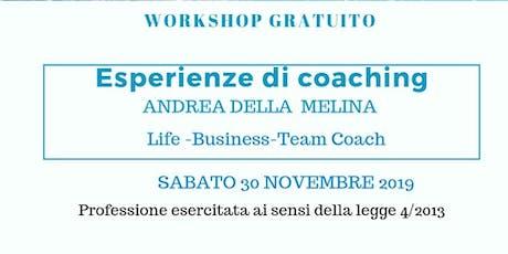Esperienze di coaching biglietti
