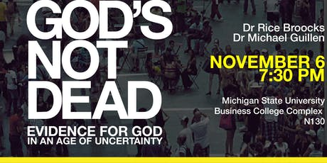 God's Not Dead with Dr. Rice Broocks at Michigan State University tickets