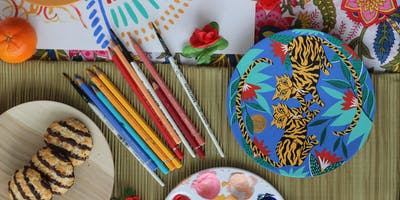 Wooden Plate Painting Workshop with Amy Isles Freeman