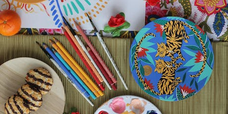 Wooden Plate Painting Workshop with Amy Isles Freeman tickets