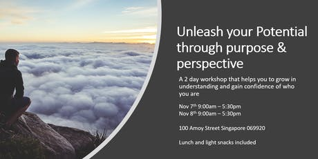 Unleash your Potential through purpose & perspective tickets
