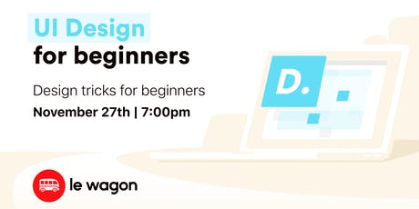 UI Design for Beginners tickets