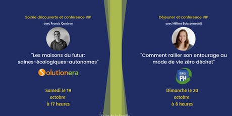 Pour les exposants: Conférences 5@7 et/ou Déjeuner  billets