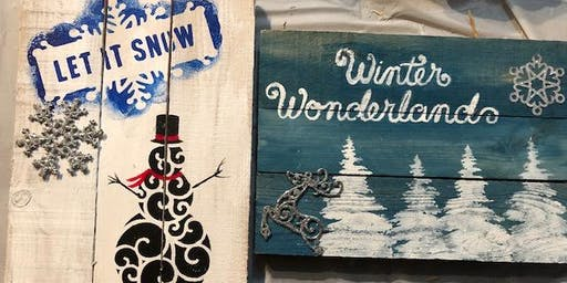 Winter Wooden Pallet Signs