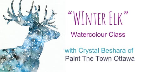Snowy Elk Watercolour with Crystal Beshara tickets