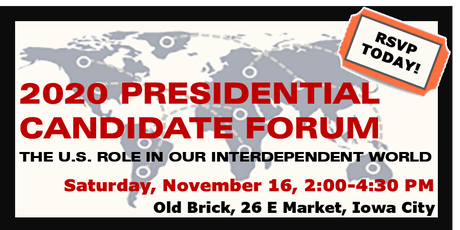 2020 Presidential Candidate Forum  tickets
