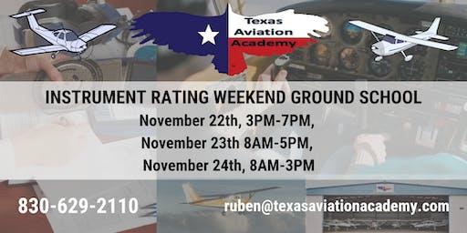 TAA Instrument Rating Weekend Ground School