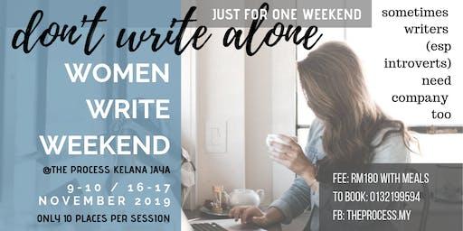 WOMEN WRITE WEEKEND 1611 SESSION B