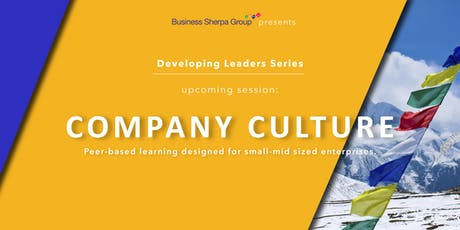 Developing Leaders Series: Company Culture tickets