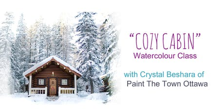 Cozy Winter Cabin Watercolour with Crystal Beshara tickets
