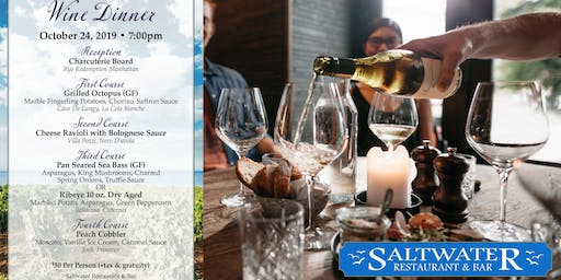 Fall Wine Dinner at Saltwater SoNo