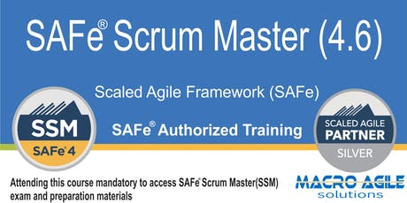SAFe® Scrum Master with  Certification(Guaranteed to Run) tickets